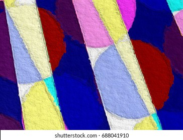 simple but complex color block, geometric pattern style background