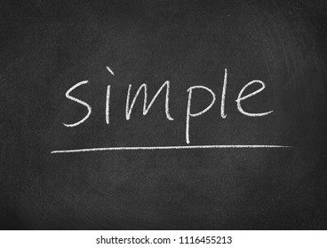 simple concept word on a blackboard background