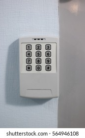 simple control alarm panel with dial pad without screen