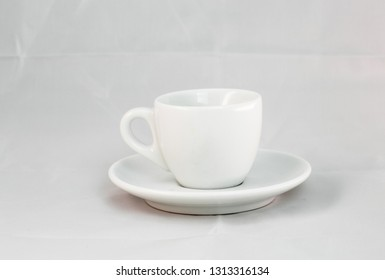 simple cup of coffee. isolated on white background
