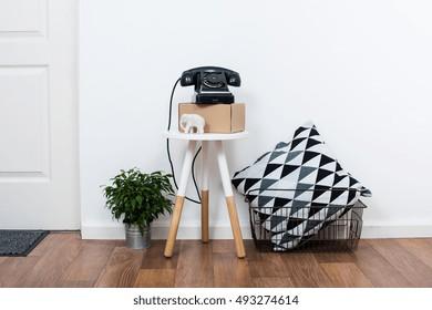 simple decor objects, minimalist white interior