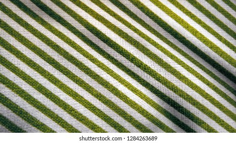 Simple diagonal striped fabric material background photo