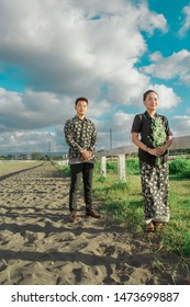 Simple example of an outdoor inspiration / prewedding idea. Photoshoot for the pre-wedding Bayu and Dea, at the horse race park Sultan Agung stadium, Yogyakarta, Indonesia. July 28, 2019
