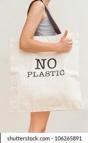 Simple flax eco bag