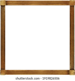 Simple folk style wooden frame