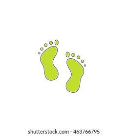 Simple footprint. Flat icon on white background. Simple illustration
