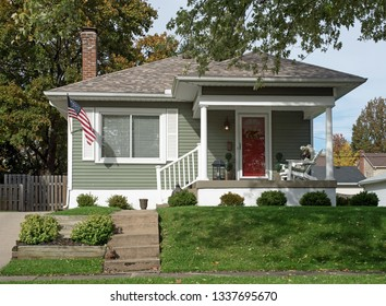 Simple Gray House Uphill