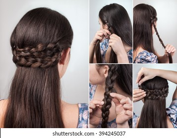 simple hairstyle for long and medium hair tutorial