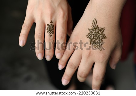 Simple Henna Tattoos Stock Photo Edit Now 220233031 Shutterstock