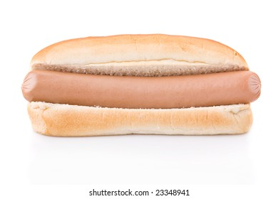 Simple Hotdog isolated on a white background