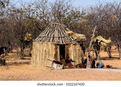The simple life in a village in Namibia South Africa