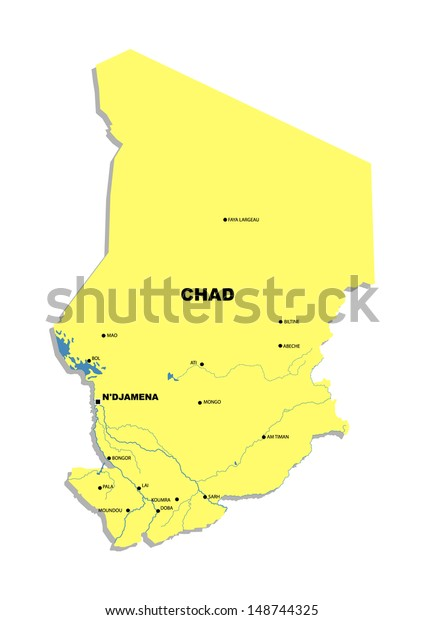 Simple Map Chad Stock Photo (Edit Now) 148744325