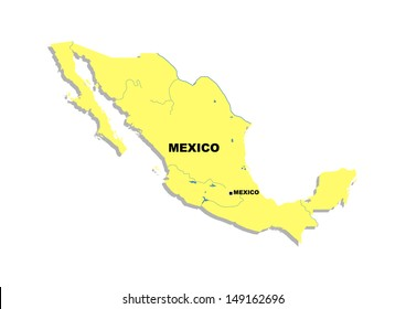 Simple map of Mexico