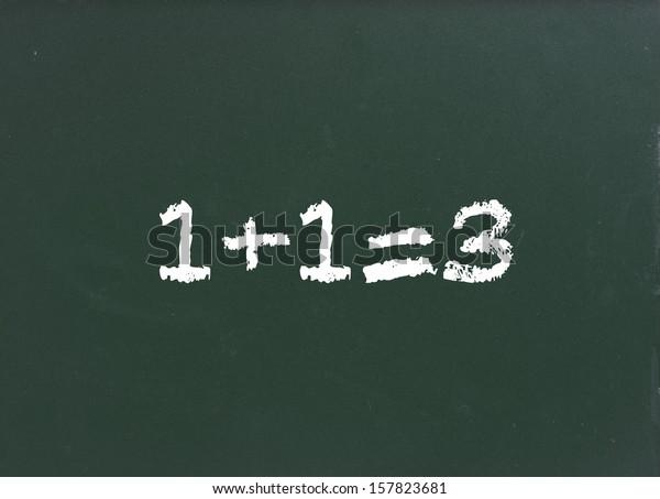 simple math on chalkboard