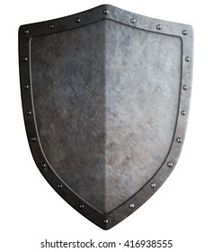 simple medieval shield 3d illustration isolated