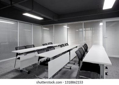 Simple meeting room and classroom interior