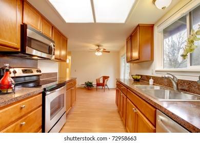 Simple new cherry kitchen design