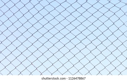 Simple old metal fence in rural Romania