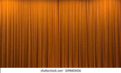 Simple Orange Curtain
