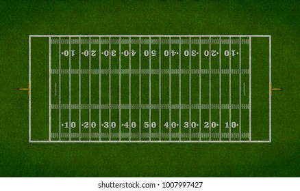 Simple overhead view of a football field.
