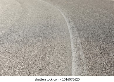Simple paved road with middle white line background