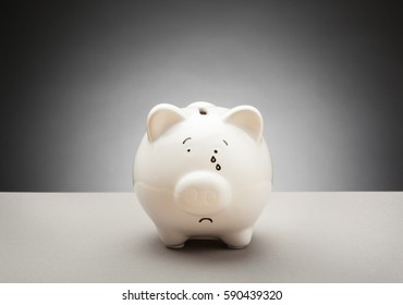 Simple Piggy Bank - With Expressions - Sad, Crying