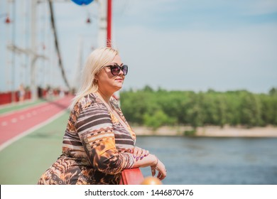 Simple plump middle aged woman