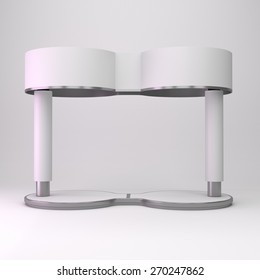 simple round booth on double circle