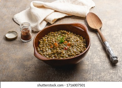 A simple scene of lentil curry bowl