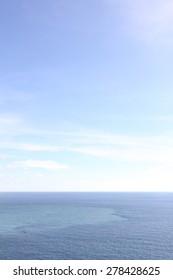 Simple sea with blue sky