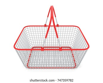simple shopping cartshopping cart. 3d illustration