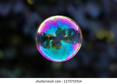 A simple soap bubble reveals amazing reflection