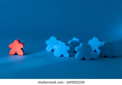 Simple Social Distancing concept on a blue background