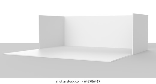 Simple stand mock-up. 3D rendering