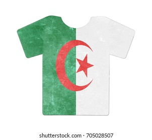 Simple t-shirt, flithy and vintage look, isolated on white - Algeria