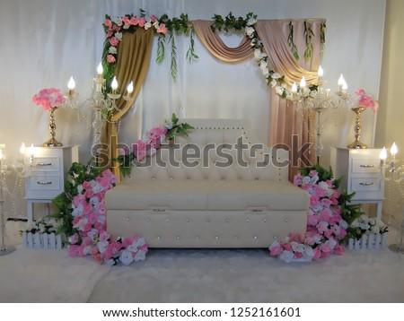 Simple Wedding Decorations Room Stock Photo Edit Now 1252161601