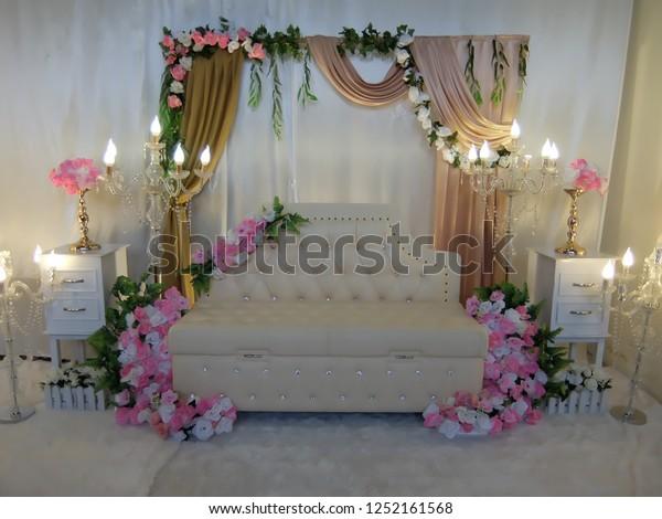 Simple Wedding Decorations.Simple Wedding Decorations Room Stock Photo Edit Now 1252161568