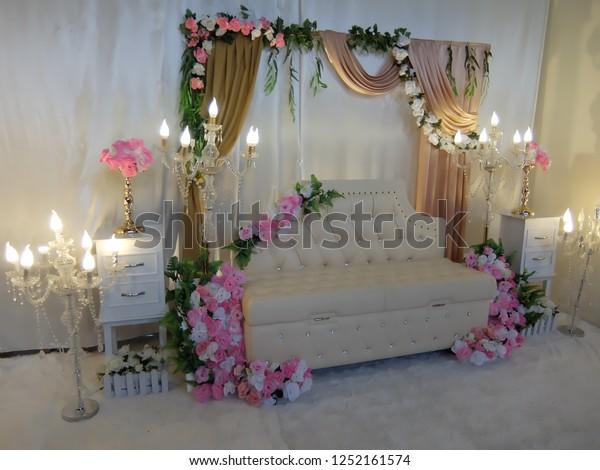 Simple Wedding Decorations.Simple Wedding Decorations Room Stock Photo Edit Now 1252161574