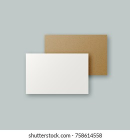 Black white brown kraft paper business stock illustration 772868491 simple white and brown kraft paper business card templates realistic clean hipster paper company brand reheart Image collections