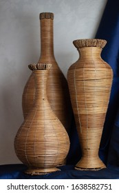 Simple woven baskets of various sizes