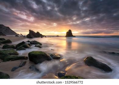 Simplicity, natural sunset beach portugal