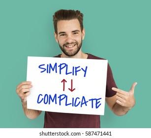 Simplify Complicate Arrow Up Down Word