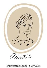 simplistic portrait of a woman