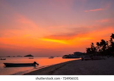 A simply stunning sunset over Malapascua Island, Cebu, Philippines