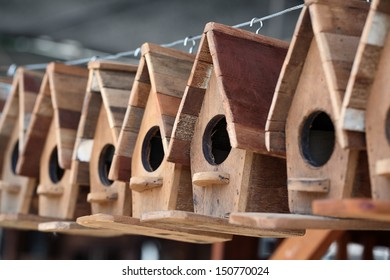 simply wooden bird house