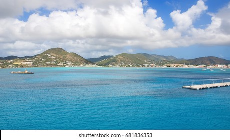 Simpson Bay and Great Bay - Philipsburg Sint Maarten ( Saint Martin ) - Caribbean tropical island