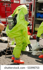 Simulated ammonia leak in the cold storage warehouse of Fred Meyer Distribution plant.  Drill involved Clackamas Fire Department with Oregon State Haz Mat Teams from Portland and Gresham.