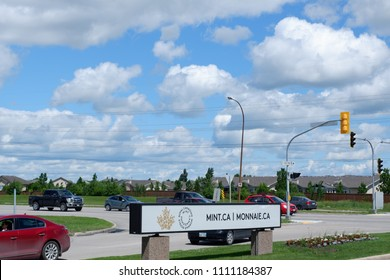 Sinage of Mint.CA is an organization to produce coin and money in Canada. Winnipeg Manitoba Canada. July 1st 2017.