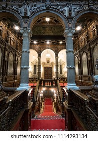 Sinaia, Romania - June 24, 2017 : interior view of Pele? Castle, a Neo-Renaissance castle in the Carpathian Mountains built between 1873 and 1914.