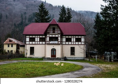 SINAIA, ROMANIA - NOVEMBER 7, 2018. Vila Student's House in Sinaia, Prahova Valley, Romania.